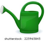 shiny green watering can  ...