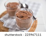 chocolate mousse  | Shutterstock . vector #225967111