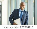 handsome afro american... | Shutterstock . vector #225968215