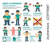 diet and fitness vector... | Shutterstock .eps vector #225970087