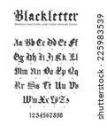 blackletter gothic script hand...   Shutterstock .eps vector #225983539