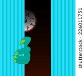 monster behind the wall vector... | Shutterstock .eps vector #226011751