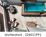modern house  swimming pool... | Shutterstock . vector #226011991