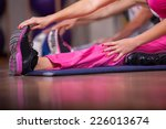 stretching pilate exercises in... | Shutterstock . vector #226013674