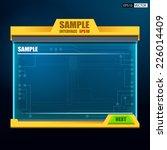 machine panel user interface... | Shutterstock .eps vector #226014409