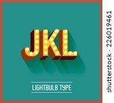 lightbulb typeface vector... | Shutterstock .eps vector #226019461