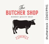 Butcher Shop Sign With...