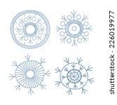 snowflakes. winter pattern.  | Shutterstock .eps vector #226019977