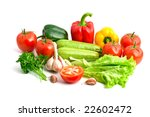 big pile of fresh vegetables... | Shutterstock . vector #22602472