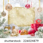 abstract christmas background... | Shutterstock . vector #226024879