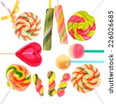 colorful lollipops isolated on... | Shutterstock . vector #226026685