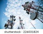 telecommunication mast tv... | Shutterstock . vector #226031824