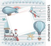 Stock vector holiday card design 226032691