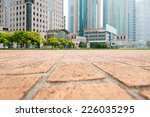 city park with modern building...   Shutterstock . vector #226035295
