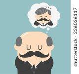 dreams of bald men | Shutterstock .eps vector #226036117