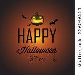 happy halloween poster 31 oct   Shutterstock .eps vector #226046551