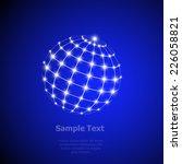 global digital mesh network ... | Shutterstock .eps vector #226058821