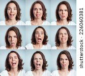 face expressions   Shutterstock . vector #226060381