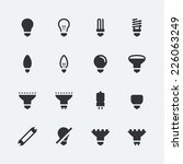 bulb shapes and types vector...   Shutterstock .eps vector #226063249