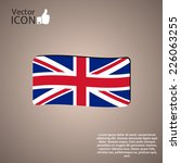 flag united kingdom. made in... | Shutterstock .eps vector #226063255