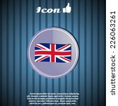 flag united kingdom. made in... | Shutterstock .eps vector #226063261