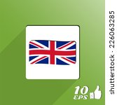flag united kingdom. made in... | Shutterstock .eps vector #226063285