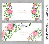 invitation cards with beautiful ... | Shutterstock .eps vector #226064671