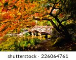 Arched Wooden Bridge In...