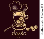 cup of coffee doppio for... | Shutterstock .eps vector #226067491