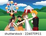 a vector illustration of kids... | Shutterstock .eps vector #226070911
