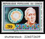 Small photo of CONGO - CIRCA 2000: A stamp printed in Congo shows a portrait of Alexander Fleming, circa 2000
