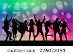 dancing silhouettes | Shutterstock .eps vector #226073191