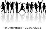 children silhouettes | Shutterstock .eps vector #226073281