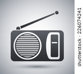 vector radio icon | Shutterstock .eps vector #226074241