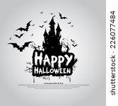 happy halloween message design... | Shutterstock .eps vector #226077484
