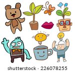 doodle coffee boy   Shutterstock .eps vector #226078255
