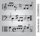 black music sheet note icons... | Shutterstock .eps vector #226080361