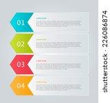 infographics template for... | Shutterstock .eps vector #226086874