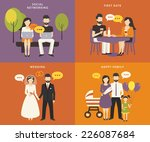 family with children people... | Shutterstock .eps vector #226087684