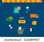 flat design vector illustration ... | Shutterstock .eps vector #226089907