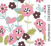 floral garden seamless pattern | Shutterstock .eps vector #226100665