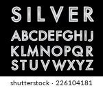 vector silver font with bulbs. | Shutterstock .eps vector #226104181