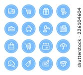shopping web icons   Shutterstock .eps vector #226104604