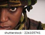 woman soldier | Shutterstock . vector #226105741