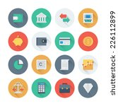 pixel perfect flat icons set... | Shutterstock .eps vector #226112899