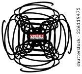 black marker abstract shape ... | Shutterstock .eps vector #226119475