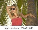 beautiful young woman posing... | Shutterstock . vector #22611985