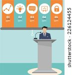 business presentation | Shutterstock .eps vector #226124455
