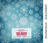 christmas snowflakes background | Shutterstock .eps vector #226124665