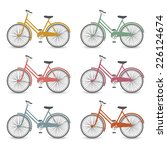 vector isolated bicycles icons... | Shutterstock .eps vector #226124674